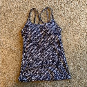 Gaiam tank top XS with built in bra athletica
